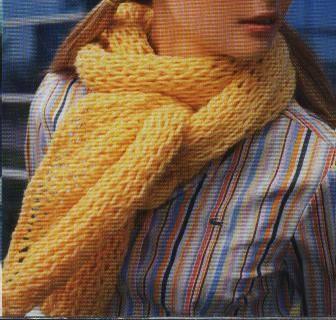 Como hacer bufandas tejidas a dos agujas