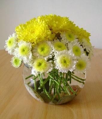 Centros de mesa para bodas con flores arreglos florales con pecera - Centro de mesa con flores ...