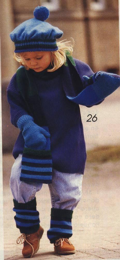 Conjunto infantil de lana para el frío :: Gorro, bufanda, manoplas y ...