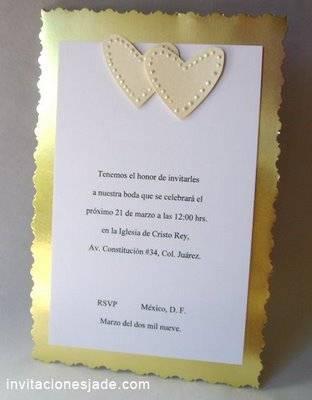 Dise o con corazones para invitaciones de boda tarjetas - Disenos tarjetas de boda ...