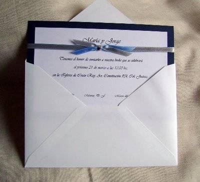 Invitaciones sencillas para boda invitaci n sencilla - Como hacer tarjetas de boda ...