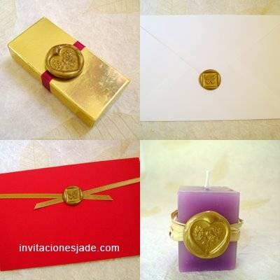 b2077ac4f62cc Sellos de lacre en invitaciones de boda    Tips para hacer sellos de ...