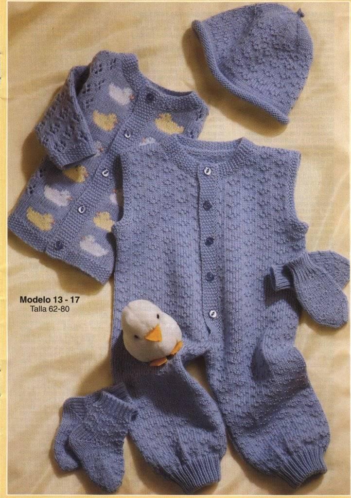 Tejer guantes a dos agujas para bebés