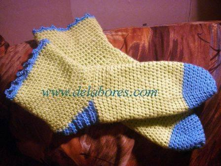 Cómo hacer calcetines tejidos a crochet :: Técnica para tejer ...