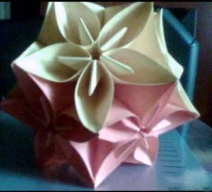 Estrella De Flores De Origami Tecnica De Plegado En Papel
