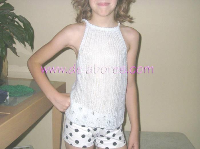 ... Sweater tejido a dos agujas :: Jersey de verano para niña de 10 años