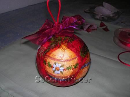 Bolas para el rbol de navidad c mo hacer bolas de - Hacer bolas de navidad ...