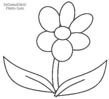 Dibujo De Flores Para Imprimir Y Pintar