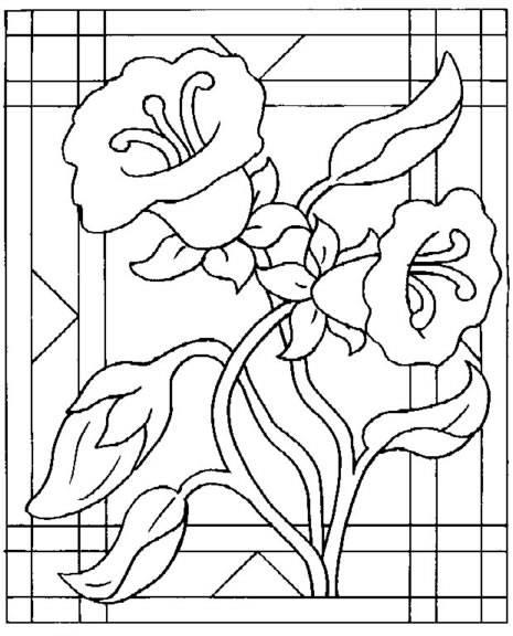 ... de flores para imprimir y pintar :: Flores para dibujar y colorear