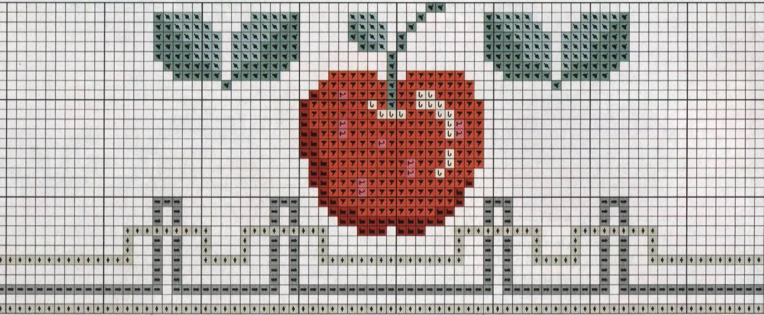 dibujos de frutas para bordar a punto cruz antes de comenzar puedes