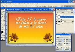 como hacer una invitación de 15 años con el programa de Photoshop