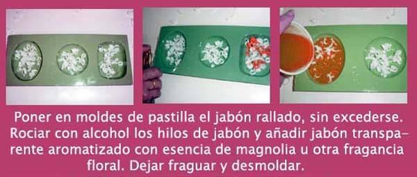 Hacer jabones con flores en casa hacer jab n con hilos - Para hacer jabon en casa ...