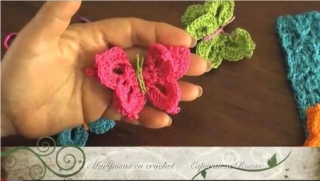 Como Hacer Mariposas De Crochet